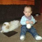 Meine Katze Dorina und meine kleine Nichte
