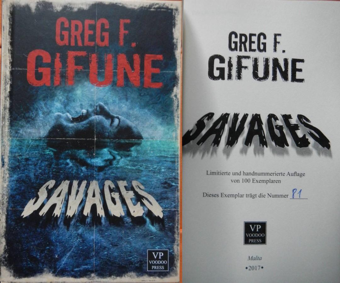"""Savages"" - Greg F. Gifune (Voodoo Press)"