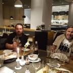 Abschlussessen im Hotelrestaurant. – mit Andreas Walter und Edward Lee.