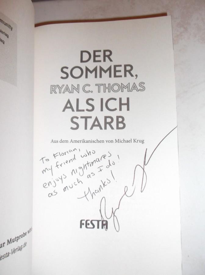 """Signiertes """"Der Sommer, als ich starb"""""""