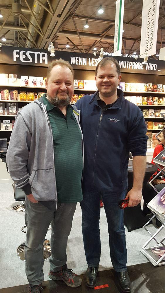 Besuch von einem sehr netten Kollegen vom Buchheim Verlag.