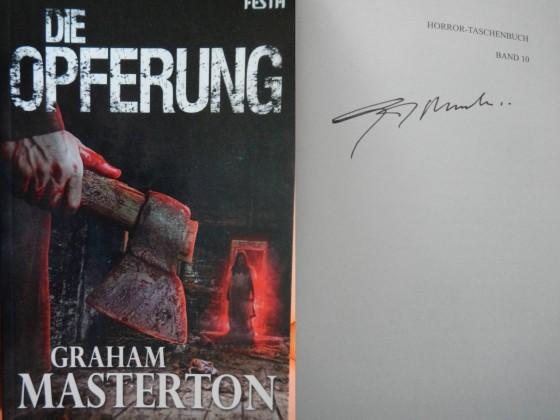 """""""Die Opferung"""" - Graham Masterton (Signiert)"""