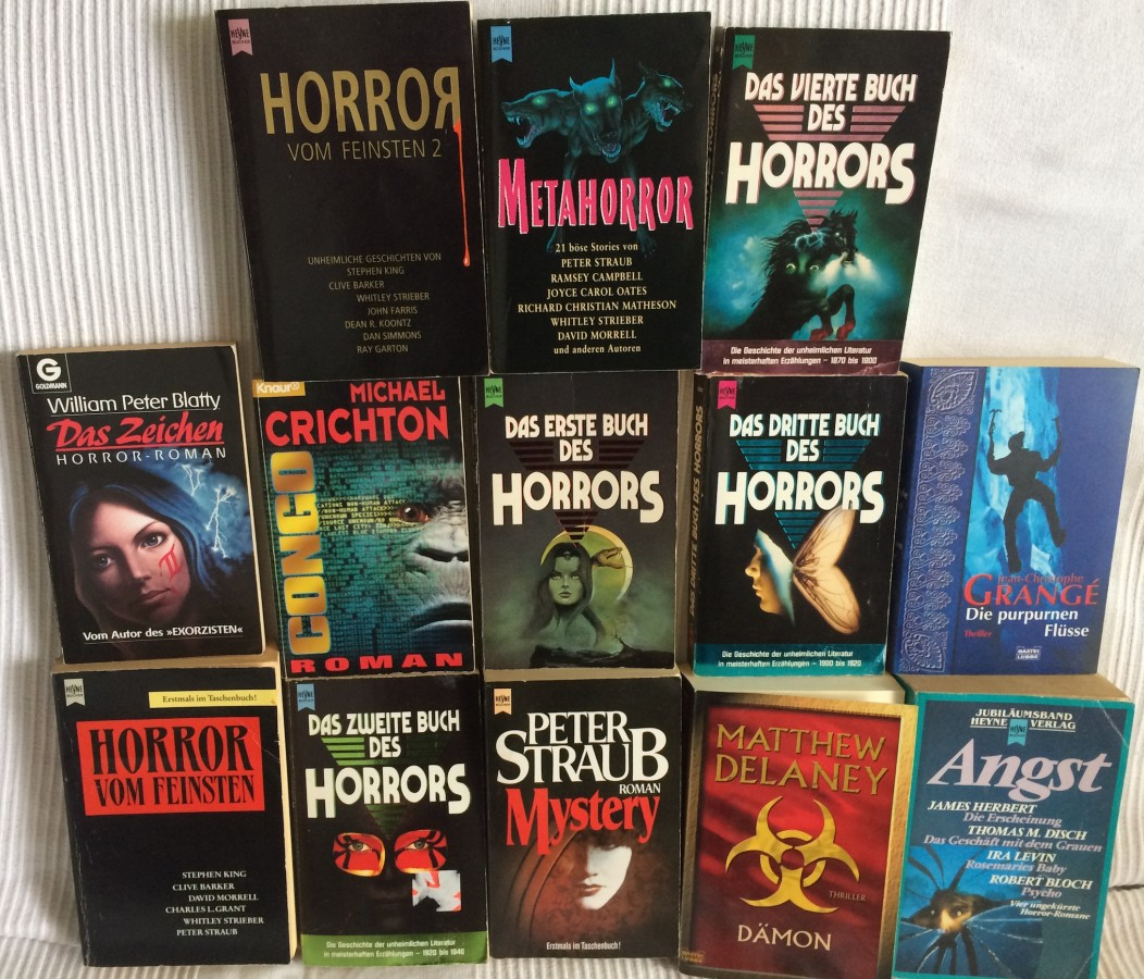 Mal etwas ältere Literatur zum Thema Horror.