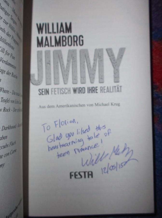 Jimmy Signatur von Malmborg