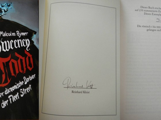 """Sweeney Todd"" - James Malcolm Rymer (Edition Phantasia)"