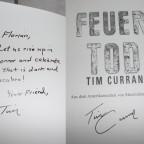 "Signierter ""Feuertod"" – Tim Curran"