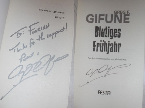 Greg F. Gifune-Signatur