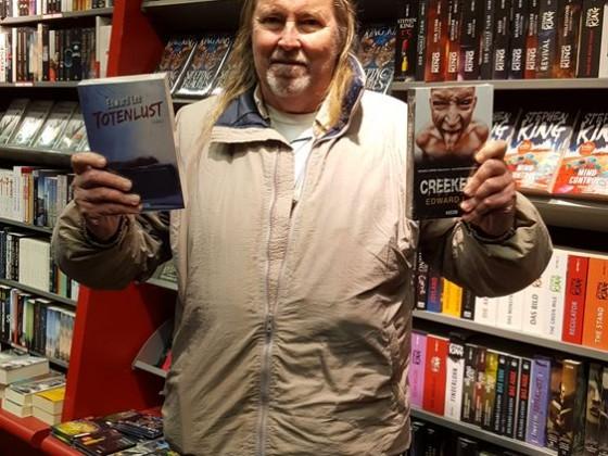 Am Mittwoch entdeckte Edward Lee seine Bücher bei Hugendubel Buchhandlungen.