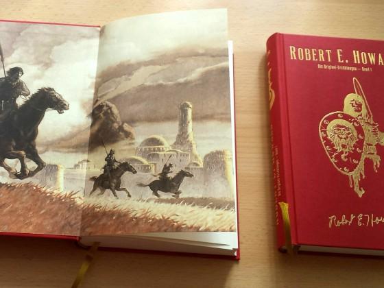 Gerade sind die Bände CONAN 1 und 2 eingetroffen, hier mal Fotos der Hardcover ohne Schutzumschlag.