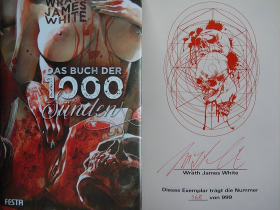 """Das Buch der 1000 Sünden"" - Wrath James White"