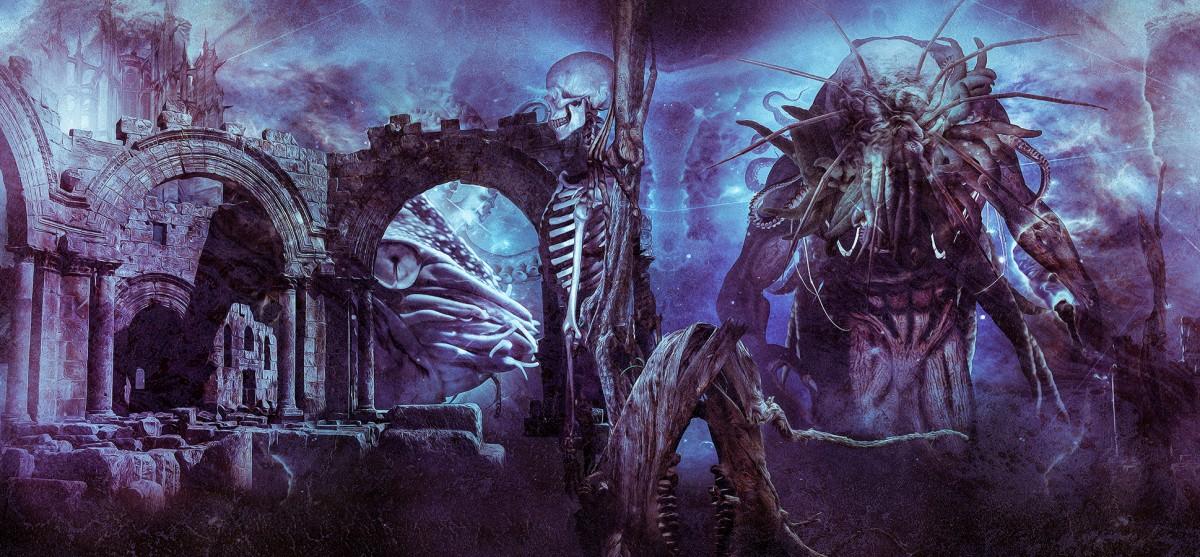 Schutzumschlag für Band 2 von 3 der Lovecraft-Zusammenarbeiten.