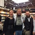 Faye Hell mit Edward Lee und Dave Anscheit