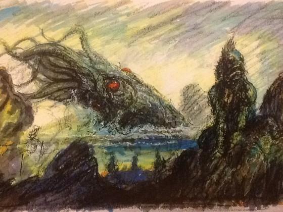 Entwurf für den Lumley/Lovecraft Sonderband Weihnachten 2014